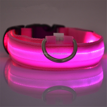 Beautiful Pet Dog Collars and Leads LED Light Pet Mascotas Cachorro Collars Large Dogs Luminous Fluorescent Collars