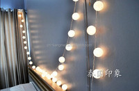 5M 20 cotton ball string lights