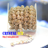 2015 new wholesale fashion fancy cup chain crystal rhinestone trimming,chain trimming ,cup chain crystal trimming