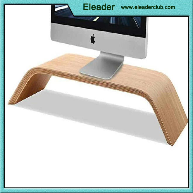 for iMac holder wood in walnut & birch