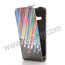 Magnetic Vertical Flip PC+PU Leather Cover for HTC One M8 Mini Flip Case Cover