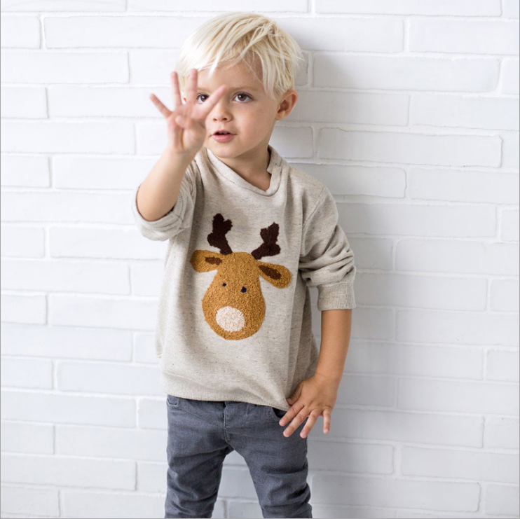 custom wholesale kids autumn boys clothes and long sleeve cotton children hoodies without hood