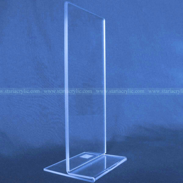 Side loading acrylic menu sign holder, Clear Plastic Advertising Paper Holder Stands, Lucite Ad Frame