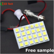 24SMD 5050 T10 Auto Light PCB, 5W Auto LED Room/Roof Lamp/Car Dome Light/License Plate Lamp