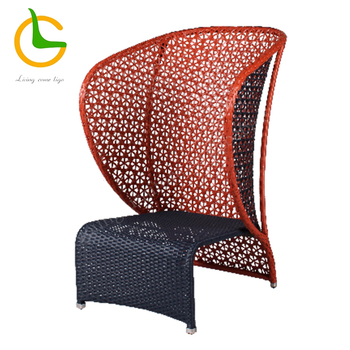Outdoor KD high back designer wicker chairs for sale