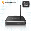M12S Octa-Core Amlogic S912 2G 16G Android 7.1 KODI 17.3 2.4G/5G WIFI android smart TV BOX