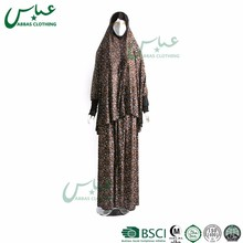 ABBAS brand arab muslim abaya Two Pieces Beautiful women islamic clothing Cheap