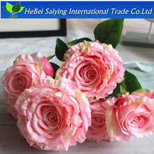 single branch packing colourful artificial rose flower