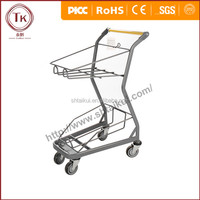 2016 Hot Sale High Quanlity Durable 2 Baskets Shopping Trolley/ Shopping Basket Cart