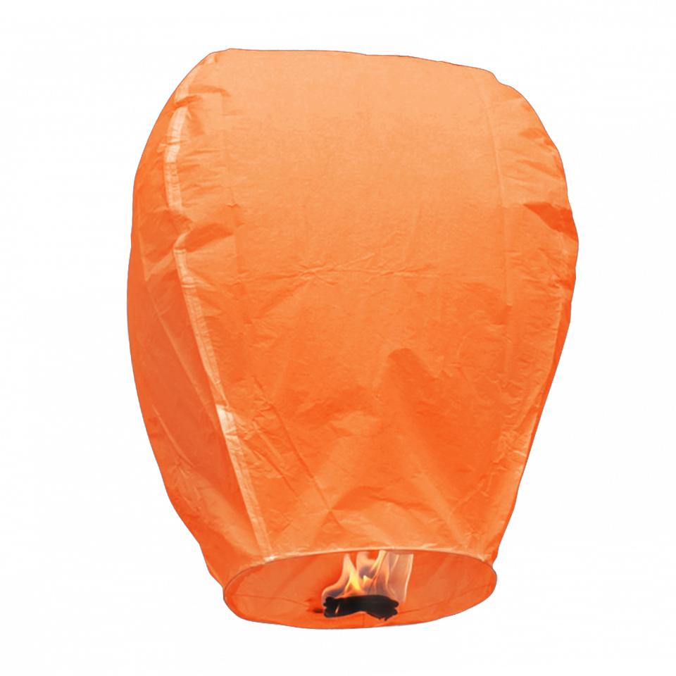 Orange Oval Chinese Wishing Flying Sky Lanterns