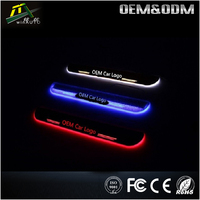 Led Moving Scuff Plate Running Board Car Door Sill For Hyundai Accent