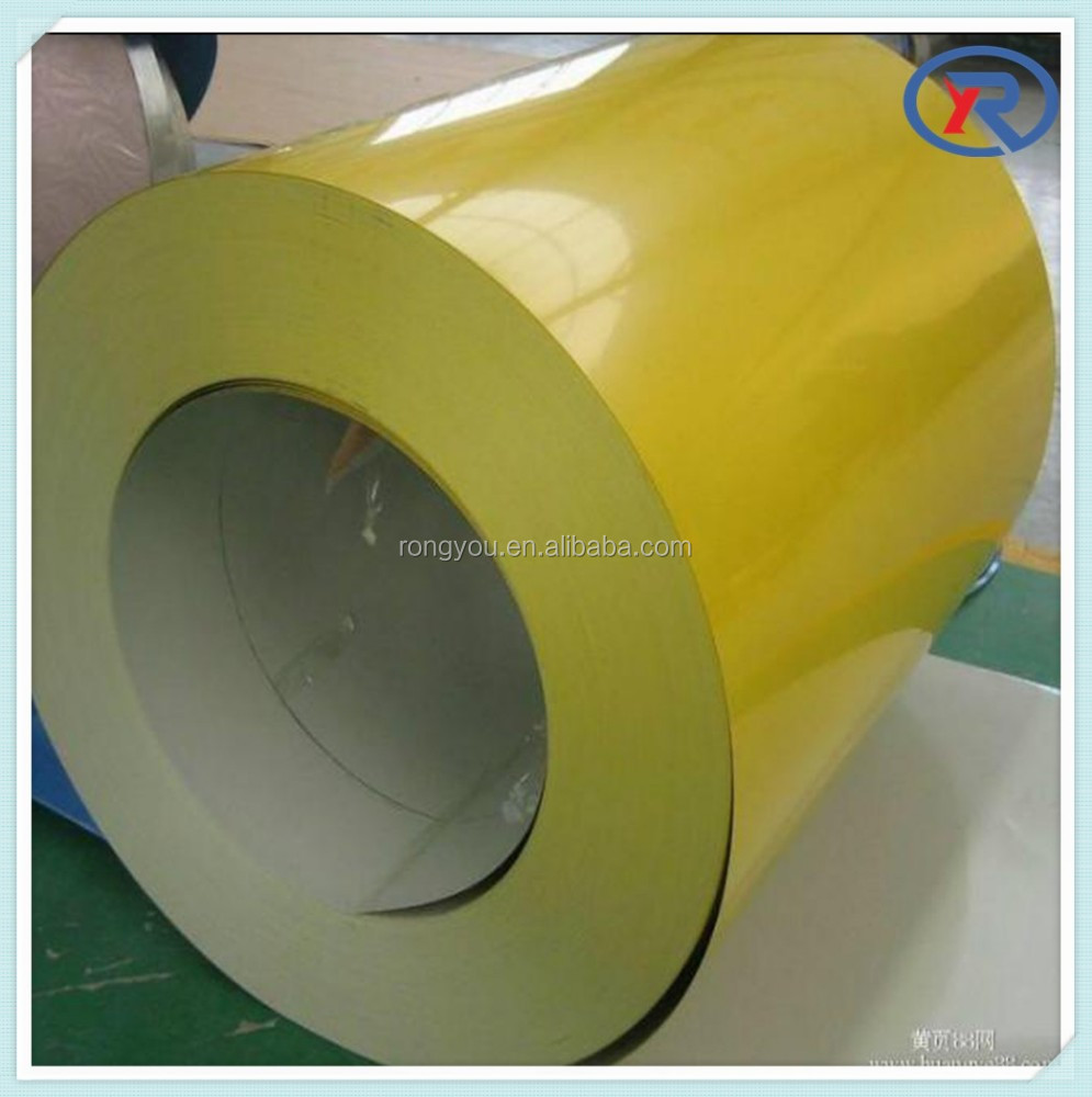 yellow color prepainted galvanized steel coil / ppgi from hebei china