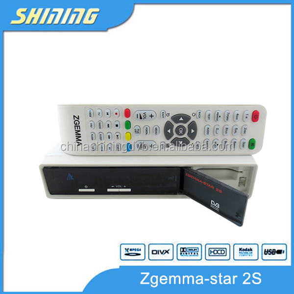 Factory selling linux HD TV decoder MHEG-2/4 H. 264 original satellite receiver Zgemma star 2S DVBS2+DVBS2 twin tuner enigma 2