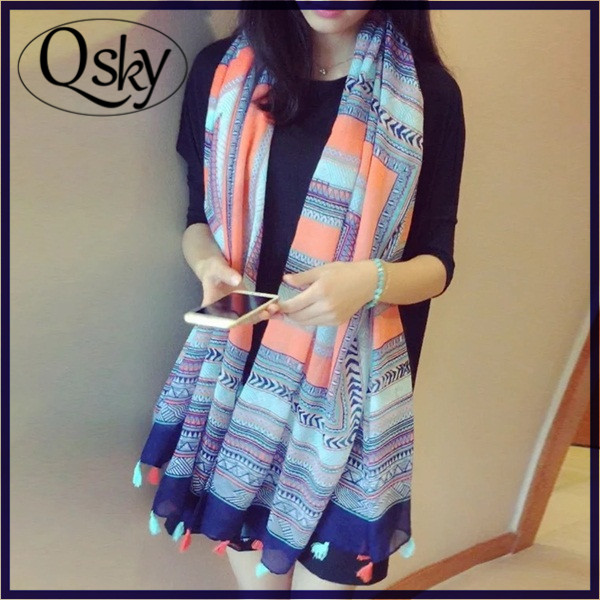 Promotional high quality soft mutifunctional wholesale blanket scarf shawl