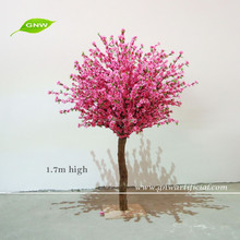 GNW 5.6ft high pink artificial wedding decoration trees with cherry blossom flower for stage decoration