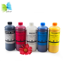 for epson dtg printer 1390 textile ink, K C M Y WH WH tinta DTG ink 1000ml *6 colors for epson F2000