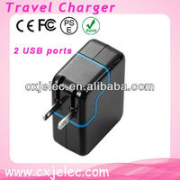 3.1A dual usb universal travel charger adapter/mobile phone travel charger with 4 plug