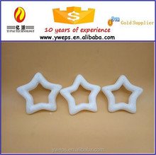 Plastic christmas star for christmas tree decoration/styrofoam hollow stars for sale