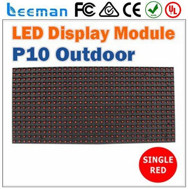 Free shipping leeman <strong>P10</strong> LED module video hot display dip p16 outdoor PH10mm RGB full color 160mm*160mm