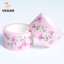 European Self Adhesive Waterproof Red Flower Nail Washy Tape