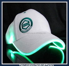 2014 Yiwu hot sale flashing lights various color led caps for party snapback caps