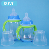 good quality baby feeding accessories 260ml arc shape transparancy pigeon pp baby bottle korea