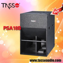 Pro audio speaker TASSO 18 inch powered subwoofer loud speakers