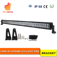 41.5 Inch factory price quality product 4D spot china 4x4 accessories 240 watt led car light bar
