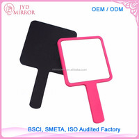 Single side square cosmetic hand mirror for daily makeup