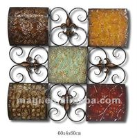 Antique Metal Ornament Wall Art For Home Decoration