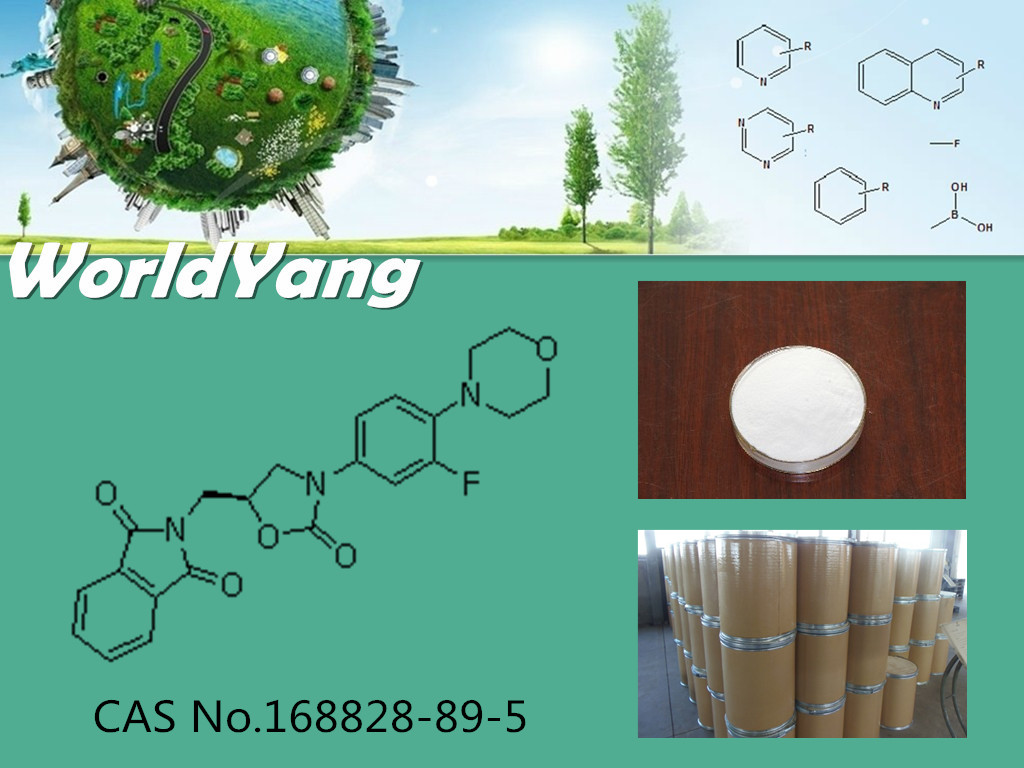 Worldyang CAS No.168828-89-5 White powder (S)-N-[[3-[3-Fluoro-4-(4-morpholinyl)phenyl]-2-oxo-5-oxazolidinyl]methyl]phthalimide