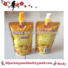 supply mangue jus spout pouch filling screw cap packing machine factory