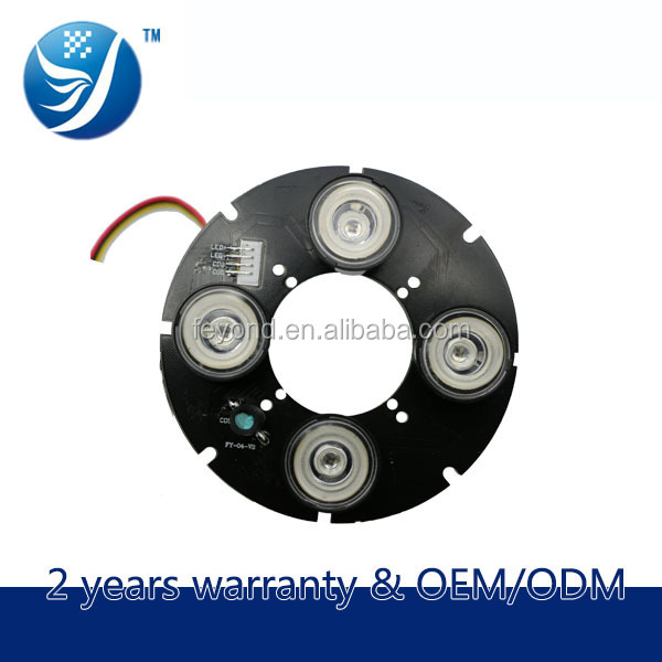 Electronic shenzhen security equipment of 42mil array 4 leds high power 110 size cctv camera ir board