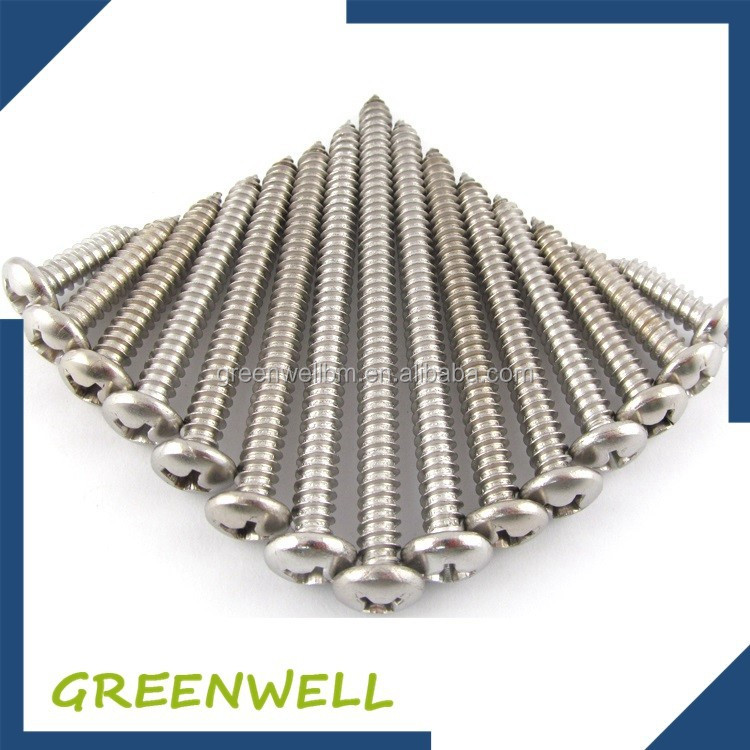 Decorative double threaded stainless steel self tapping screw