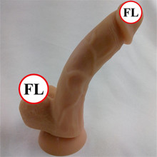 360 degree Bendable silicone dildo Sex product Man Big Size Dildos For Women with strong suction soft artificial penis