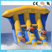 6 person inflatable fly fish,plastic PVC flyfish for rental