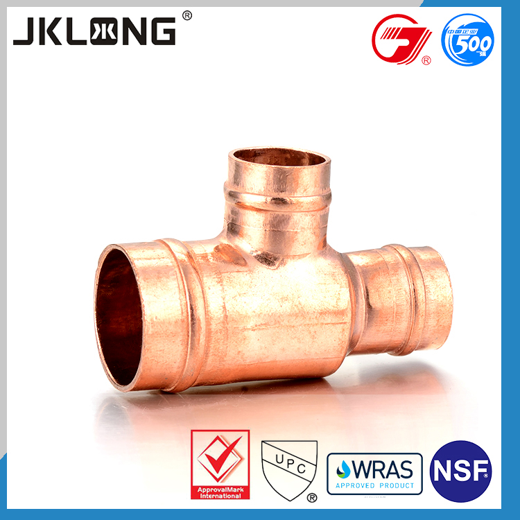 J9509 solder ring reducing tee copper pipe fitting,copper pipe fittings and connectors,copper connector