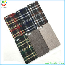 Fashion Classical Cloth Mobile Phone Shell England Plaid Fabric Phone Case for iPhone 6