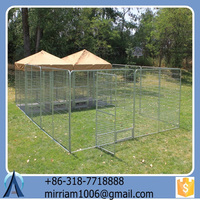 High quality cheap hot sale powder coating galvanized large outdoor folding dog cages/kennels