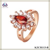Handicraft Bohemian Style Jewelry Ruby Stone Setting Vintage Ring For Women