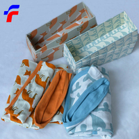 full printed animlal organic cotton baby quilted blanket
