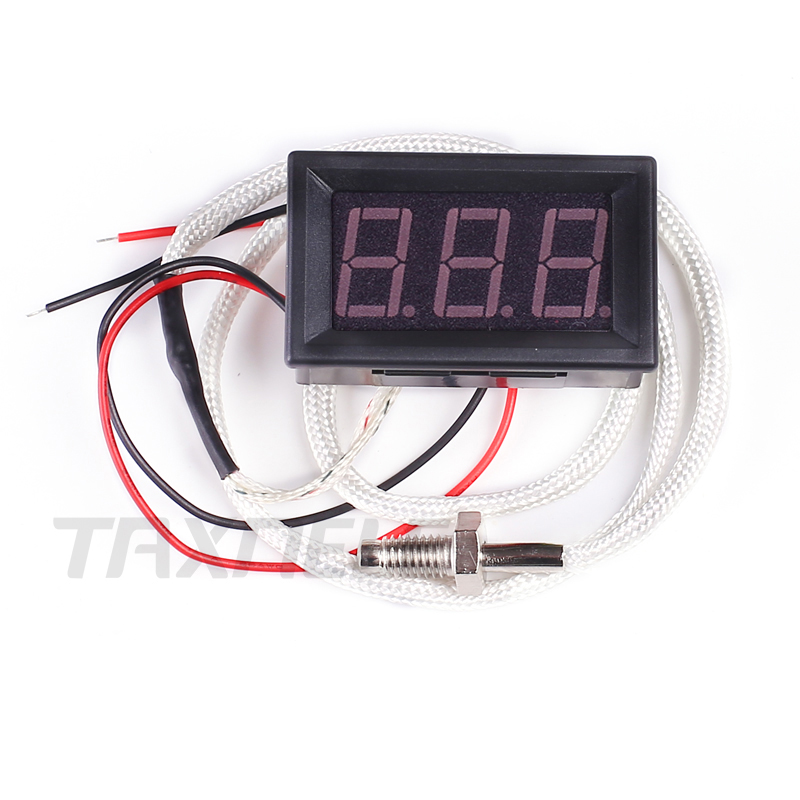 0~800C K-type M6 Screw Thermocouple 12V Temperature Meter Car Monitor Meter Thermograph