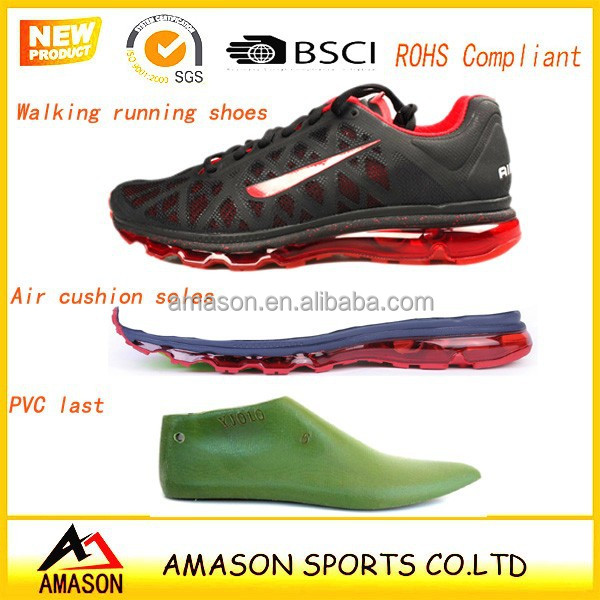 2015 new fashion air sport shoes with air cushion sole jinjiang factory eva air rubber max sole pvc last shoes upper