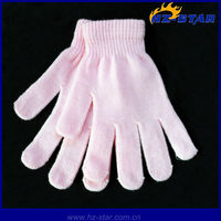 HZS-13123 five finger custom pink plain Stylish Girls Winter Magic stretch Funny Gloves