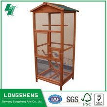 Small pet cage wooden bird cage