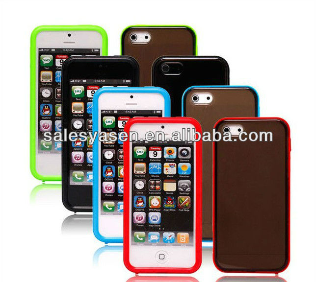 2 in 1 Hard Case cover with Plastic bumper for iphone 5
