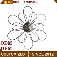 Metal 3d artificial flower for wall decoration