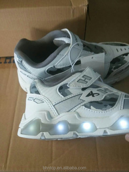 BSWLED15081129 Flashing Cheap LED Flashing Kids Sports Shoes White colour