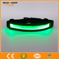 LED waterproof elastic sports running belt with private label