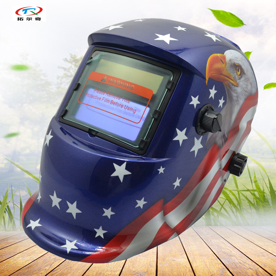 Custom model OEM Auto Darkening Welding Helmet en379 for welder machine